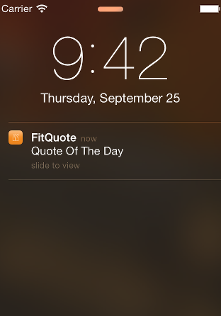 FitQuote Notification